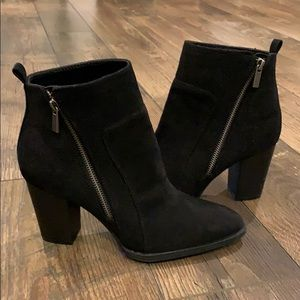 NWOT Black Faux Suede Booties